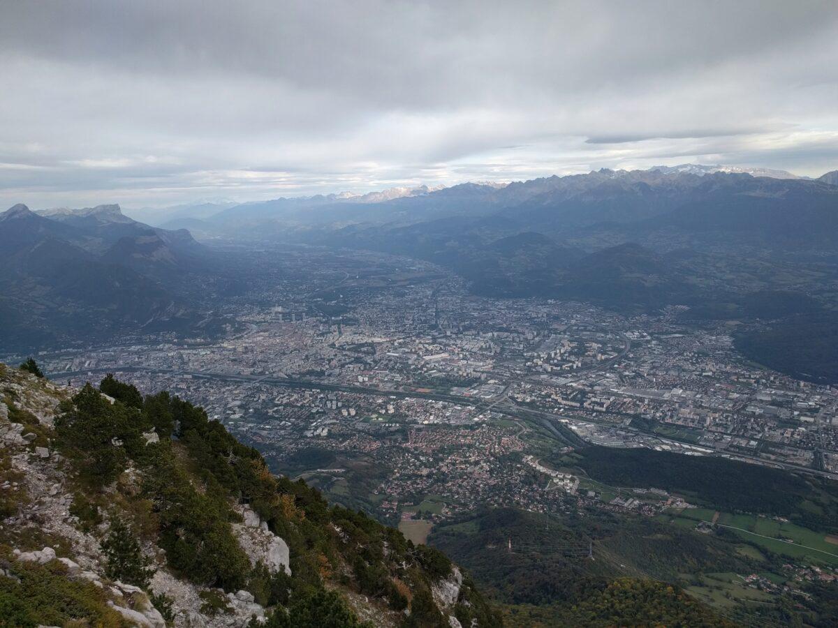 Grenoble vue du Moucherotte